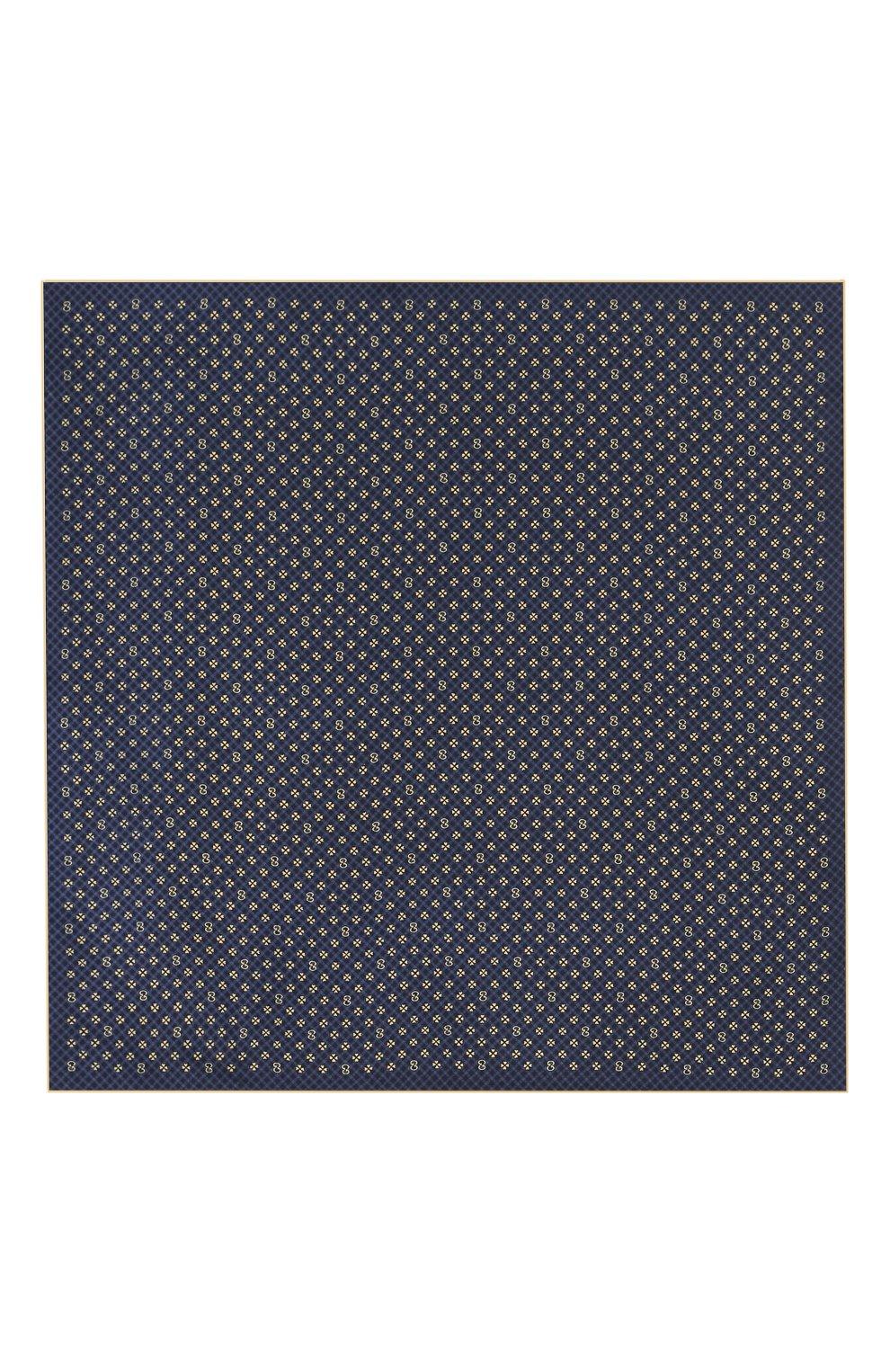 Мужской шелковый платок GUCCI синего цвета, арт. 604097/4GA57 | Фото 3