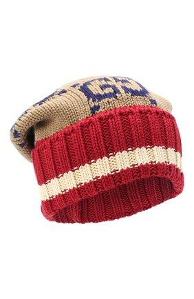 Мужская хлопковая шапка GUCCI разноцветного цвета, арт. 597636/4G111 | Фото 1