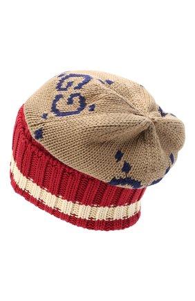 Мужская хлопковая шапка GUCCI разноцветного цвета, арт. 597636/4G111 | Фото 2