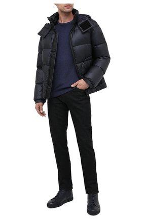 Мужская пуховая куртка BOSS темно-синего цвета, арт. 50436643   Фото 2