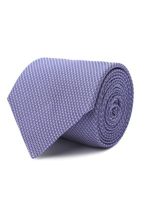 Мужской шелковый галстук BOSS сиреневого цвета, арт. 50441667 | Фото 1