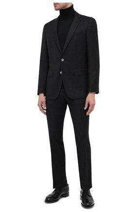 Мужской шерстяные брюки BOSS темно-серого цвета, арт. 50438510 | Фото 2