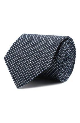 Мужской шелковый галстук BOSS голубого цвета, арт. 50441208 | Фото 1