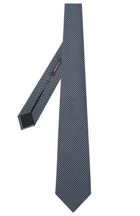 Мужской шелковый галстук BOSS голубого цвета, арт. 50441208 | Фото 2