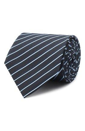 Мужской шелковый галстук BOSS голубого цвета, арт. 50441219 | Фото 1