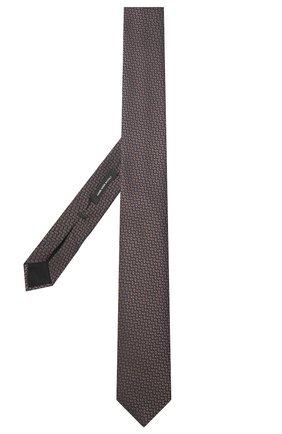 Мужской шелковый галстук BOSS темно-коричневого цвета, арт. 50441226 | Фото 2