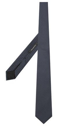 Мужской шелковый галстук BOSS темно-синего цвета, арт. 50441241 | Фото 2