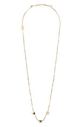 Женское колье valentino garavani rockstud VALENTINO золотого цвета, арт. UW2J0G39/MET | Фото 1