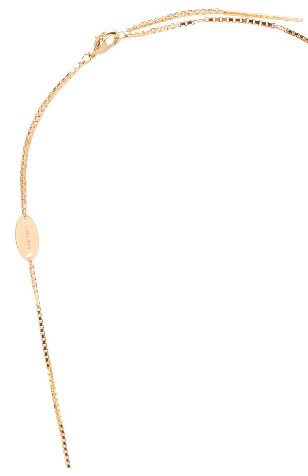 Женское колье valentino garavani rockstud VALENTINO золотого цвета, арт. UW2J0G39/MET | Фото 3