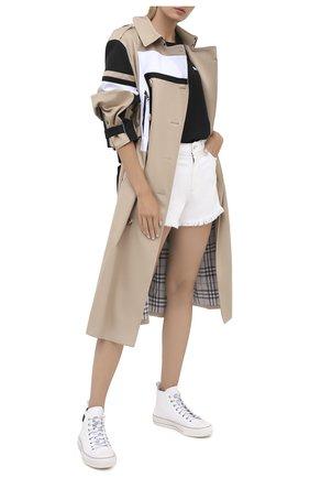 Женские текстильные кеды valentino garavani giggies VALENTINO белого цвета, арт. UW2S0AB3/MBU | Фото 2