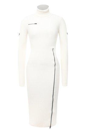 Женское шерстяное платье TOM FORD белого цвета, арт. ACK242-YAX262 | Фото 1