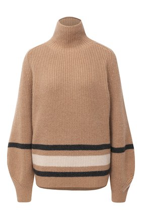 Женская кашемировый свитер LORO PIANA бежевого цвета, арт. FAL3713 | Фото 1