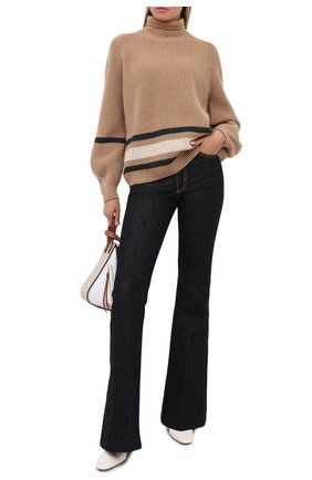 Женская кашемировый свитер LORO PIANA бежевого цвета, арт. FAL3713 | Фото 2