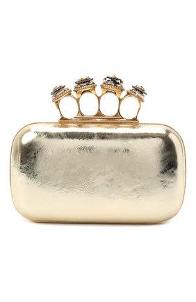 Женский клатч jewelled four ring ALEXANDER MCQUEEN золотого цвета, арт. 583726/1YATT | Фото 1