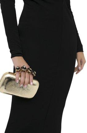 Женский клатч jewelled four ring ALEXANDER MCQUEEN золотого цвета, арт. 583726/1YATT | Фото 2
