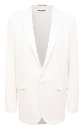 Женский шерстяной жакет SAINT LAURENT белого цвета, арт. 514631/Y513W | Фото 1