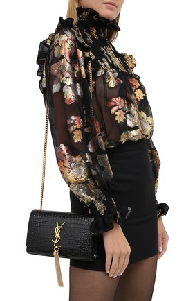 Женская сумка kate small  SAINT LAURENT черного цвета, арт. 474366/DND0J | Фото 2