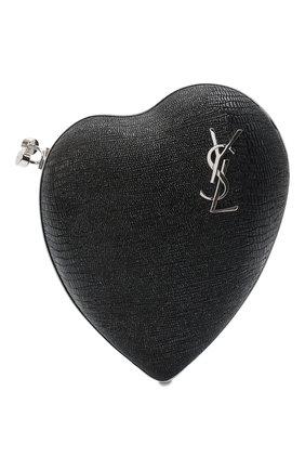 Женский клатч love box SAINT LAURENT черного цвета, арт. 466212/1ZX0N | Фото 1