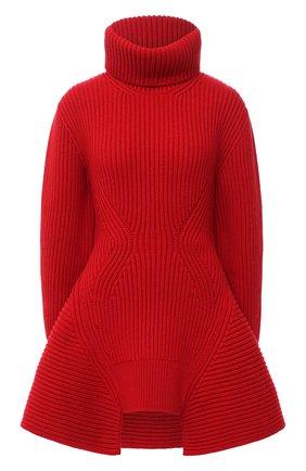Женский шерстяной свитер ALEXANDER MCQUEEN красного цвета, арт. 633688/Q1AQ1 | Фото 1