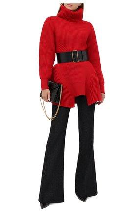 Женский шерстяной свитер ALEXANDER MCQUEEN красного цвета, арт. 633688/Q1AQ1 | Фото 2