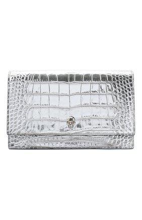 Женская сумка skull medium ALEXANDER MCQUEEN серебряного цвета, арт. 630266/1RFDY   Фото 1 (Материал: Натуральная кожа; Размер: medium; Ремень/цепочка: На ремешке; Сумки-технические: Сумки через плечо)