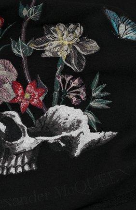 Мужские шерстяной шарф ALEXANDER MCQUEEN черного цвета, арт. 629854/3C69Q | Фото 2