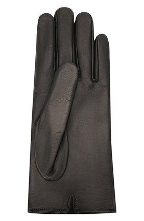 Женские кожаные перчатки GUCCI черного цвета, арт. 477965/BAP00 | Фото 2