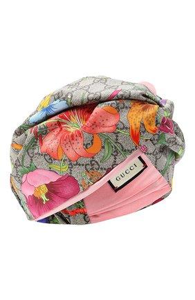 Женская шелковая повязка на голову GUCCI розового цвета, арт. 609319/3GC02 | Фото 1