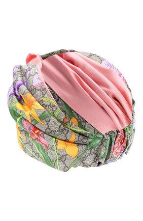 Женская шелковая повязка на голову GUCCI розового цвета, арт. 609319/3GC02 | Фото 2