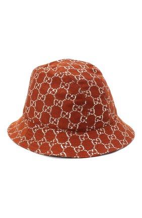 Женская панама  GUCCI коричневого цвета, арт. 631951/3HK74 | Фото 1