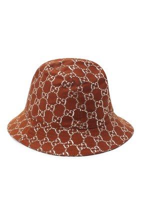 Женская панама  GUCCI коричневого цвета, арт. 631951/3HK74 | Фото 2