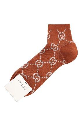 Женские хлопковые носки GUCCI бронзового цвета, арт. 631451/3GF79 | Фото 1