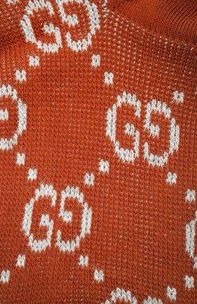 Женские хлопковые носки GUCCI бронзового цвета, арт. 631451/3GF79 | Фото 2