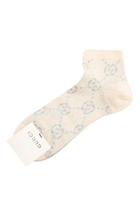 Женские хлопковые носки GUCCI серебряного цвета, арт. 631451/3GF79 | Фото 1