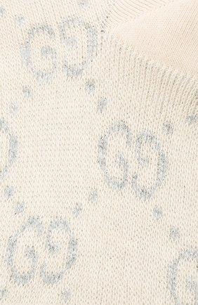 Женские хлопковые носки GUCCI серебряного цвета, арт. 631451/3GF79 | Фото 2