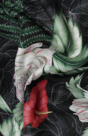 Женская шаль big hawaian GUCCI черного цвета, арт. 631433/3G856 | Фото 2