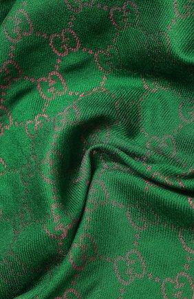 Женская шаль bright g GUCCI зеленого цвета, арт. 627872/3GF66 | Фото 2