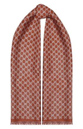 Женская шаль argentavio GUCCI бронзового цвета, арт. 623161/3GF37 | Фото 1