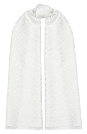 Женская шаль argentavio GUCCI серого цвета, арт. 623161/3GF37 | Фото 1