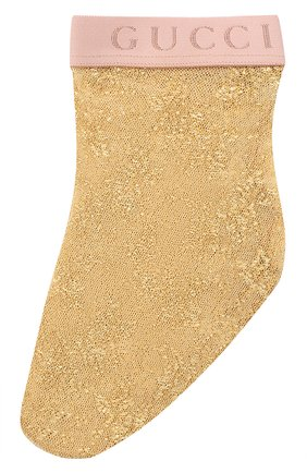 Женские носки GUCCI золотого цвета, арт. 615533/3GF25 | Фото 1