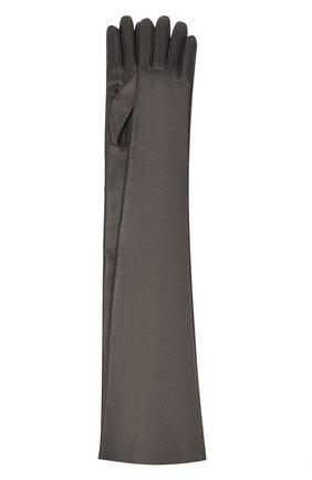 Женские кожаные перчатки GUCCI черного цвета, арт. 603553/BAP00 | Фото 1