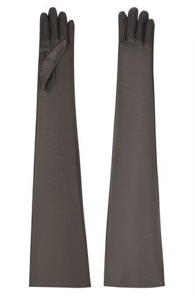 Женские кожаные перчатки GUCCI черного цвета, арт. 603553/BAP00 | Фото 2