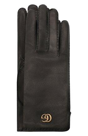 Женские кожаные перчатки GUCCI черного цвета, арт. 554281/BN060 | Фото 1