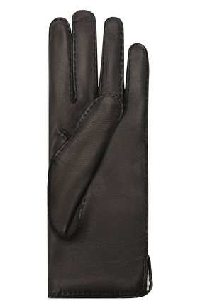Женские кожаные перчатки GUCCI черного цвета, арт. 554281/BN060 | Фото 2