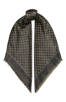 Женская шаль shiny winter GUCCI черного цвета, арт. 499352/3G119 | Фото 1