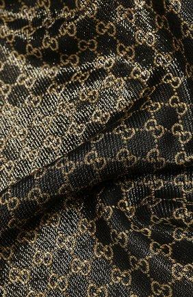 Женская шаль shiny winter GUCCI черного цвета, арт. 499352/3G119 | Фото 2