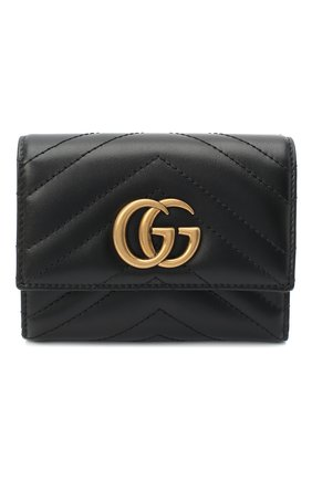Женские кожаное портмоне gg marmont 2.0 GUCCI черного цвета, арт. 474802/DTD1T | Фото 1
