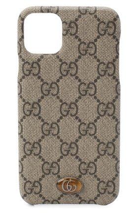 Мужской чехол ophidia для iphone 11 pro max GUCCI бежевого цвета, арт. 625714/K5I0S   Фото 1