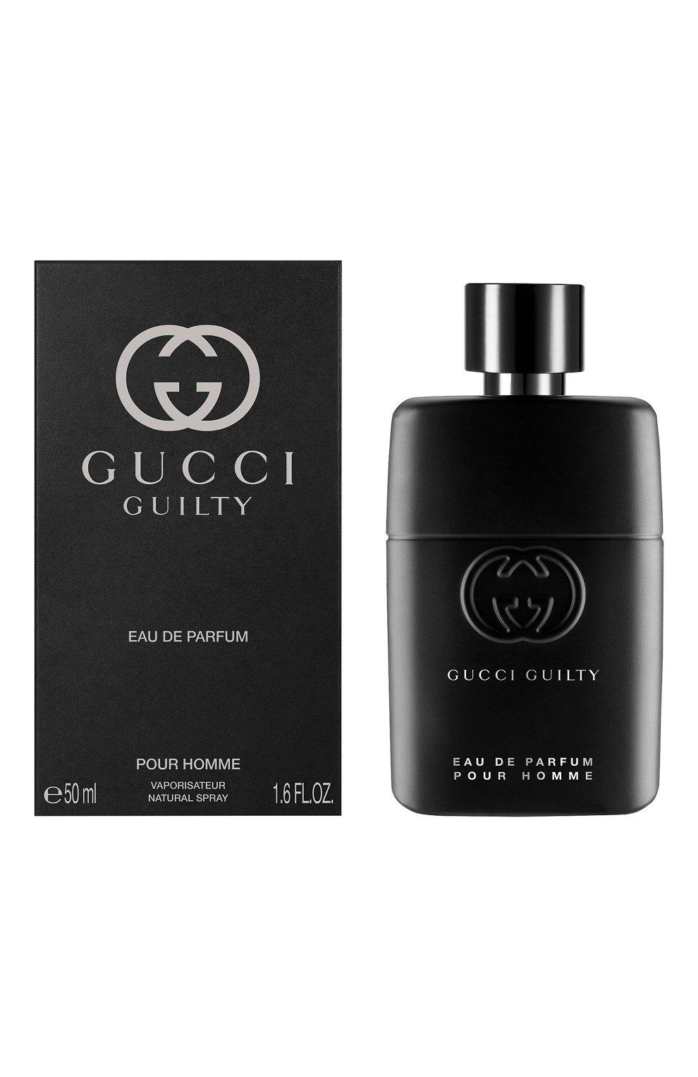 Мужской парфюмерная вода guilty pour homme GUCCI бесцветного цвета, арт. 3614229382112   Фото 2