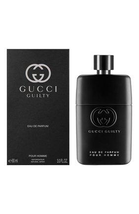 Мужской парфюмерная вода guilty pour homme GUCCI бесцветного цвета, арт. 3614229382129 | Фото 2